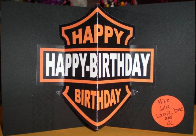 Happy harley birthday card by browneyedbby cards and paper crafts at