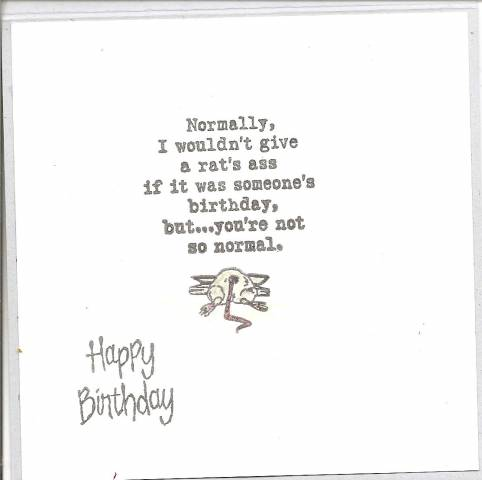 Tacky Birthday wishes by 1volunteer Cards and Paper Crafts at – Tacky Birthday Cards