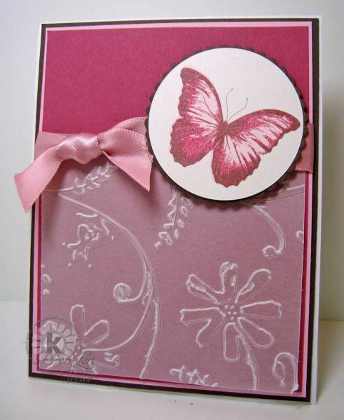 Fs106 Embossed Vellum Butterfly By Ltecler At