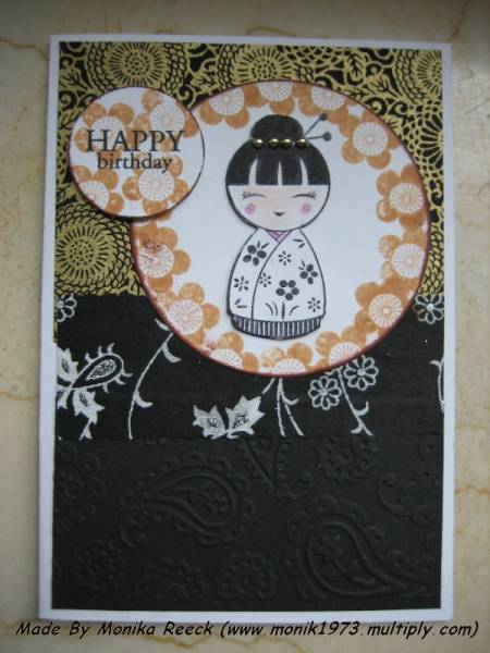happy birthday with japanese girl acarinacards  at