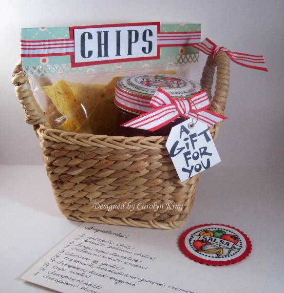 & CK Chips and Salsa gift basket by Cammie - at Splitcoaststampers