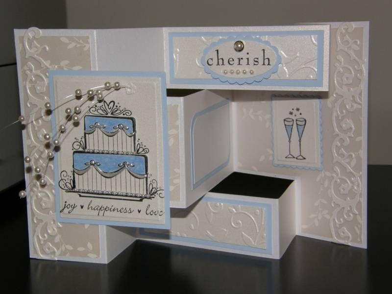 Tri-Fold Wedding Cards By Calex - Cards And Paper Crafts At