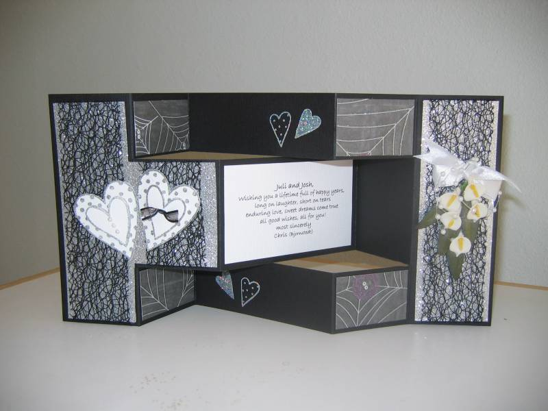 TriFold HalloweenWedding Card By Chris Bjornstedt  At