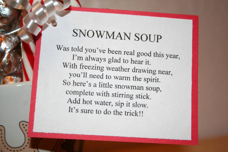 Snowman Soup Mug Poem by LauraLB - Cards and Paper Crafts at ...