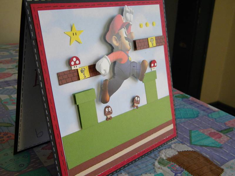 Mario Birthday Card By Timisty At Splitcoaststampers