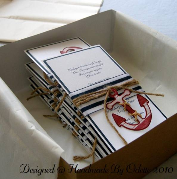 nautical theme birthday invitation by handmadebyodette at