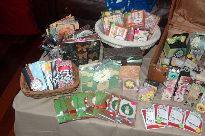 craft fair table setup part one by kinetickatie at splitcoaststampers