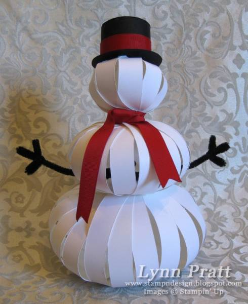 Paper Strip Snowman By Lpratt