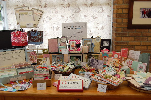 Craft fair table layout by paper is bliss at for Things to make for christmas craft fairs