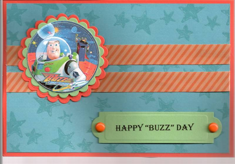 Buzz Lightyear Birthday Card by stamplingal Cards and Paper – Buzz Lightyear Birthday Card