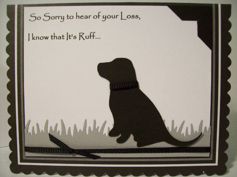 pet sympathy card by mamawcindy at splitcoaststampers