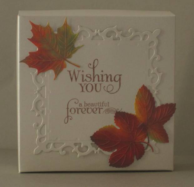 Box For Fall Wedding Card by SanFransister Cards and Paper – Fall Wedding Card Boxes