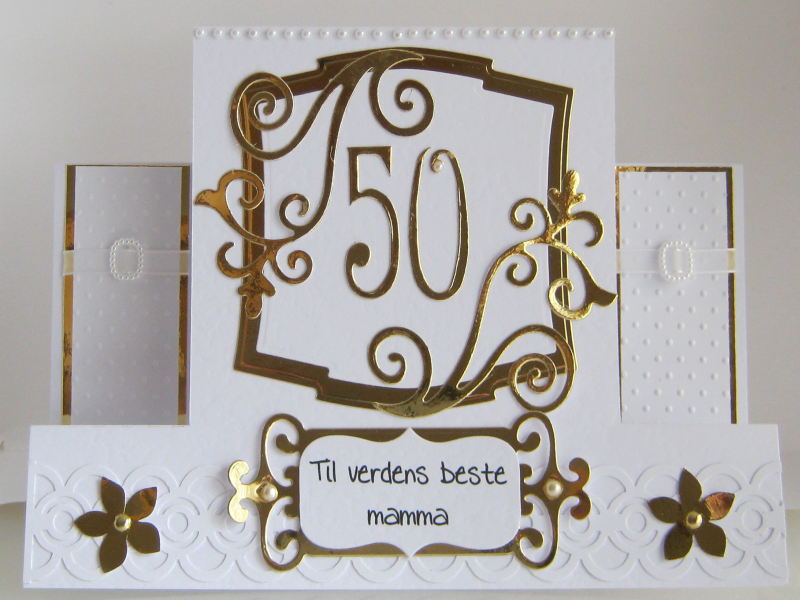 50th Birthday Card By 4815162342