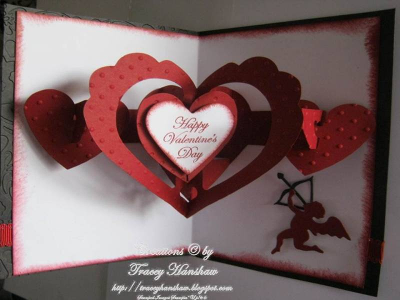 VALENTINES DAY POP OUT CARD FRONT INSIDE by TraceyMay1 Cards – Pop out Valentines Day Cards