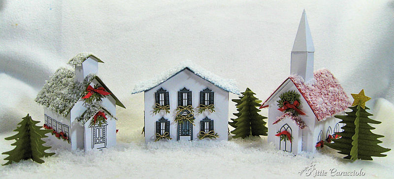 Snowy Winter Village By Kittie747 At Splitcoaststampers
