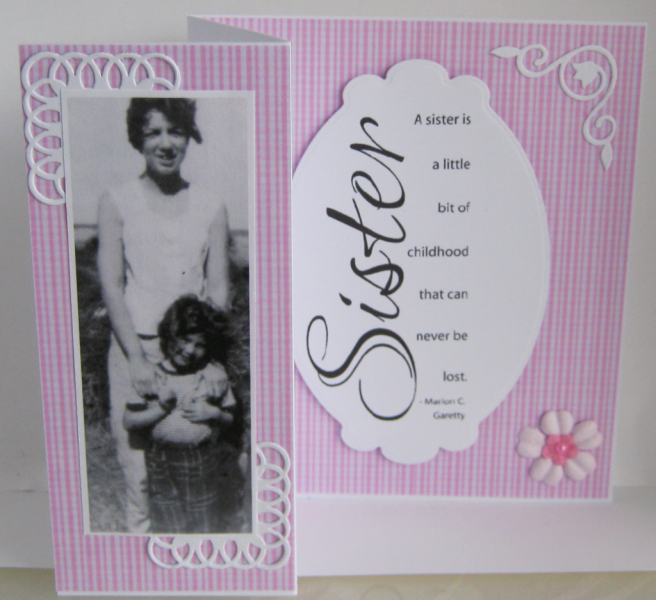 My Big Sisters Birthday Card By 4815162342