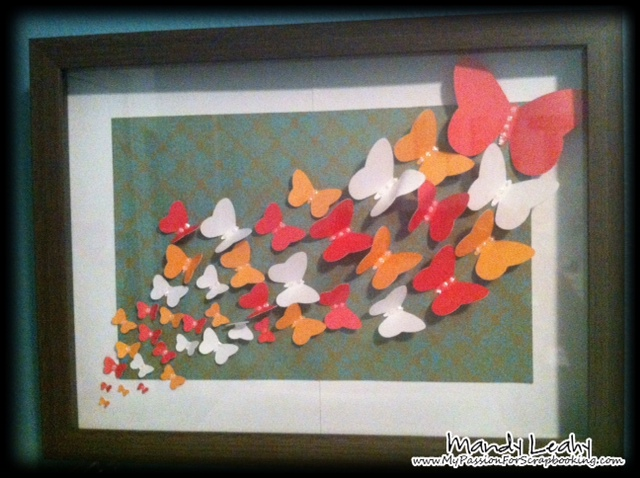 Butterfly Shadow Box Wall Decor Using CTMH Art Philosophy