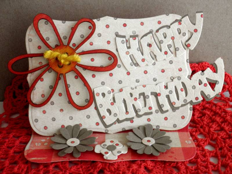 happy birthday by mother's daughter  cards and paper crafts at, Birthday card