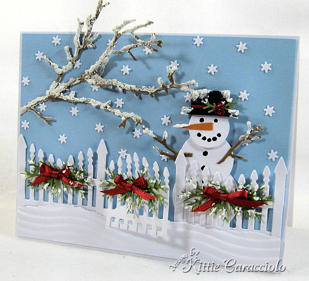 Board Decoration For Christmas: Snowy Christmas Snowman By Kittie747