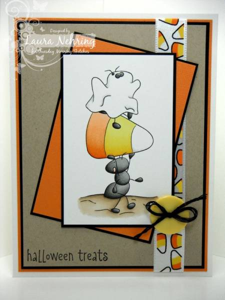 Candy corn ants by thecraftysister at splitcoaststampers for Michaels crafts wausau wi