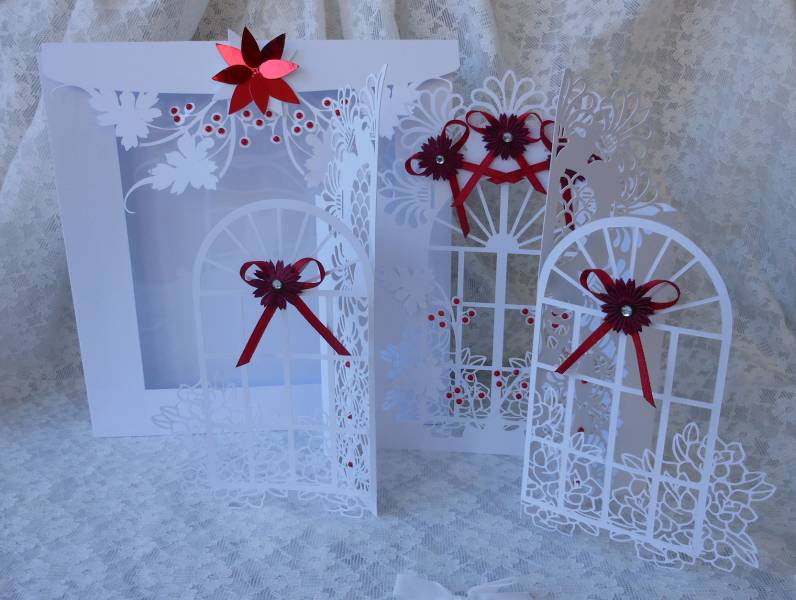 diy silhouette christmas cards window door card by silverst170 at 4262