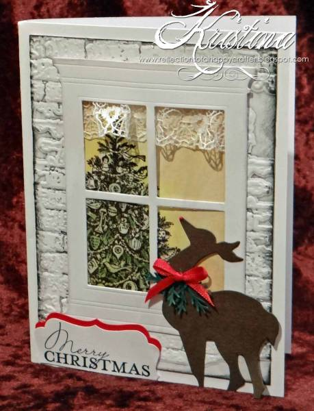 Christmas window scene with noble deer by andersen65 at for Noble windows