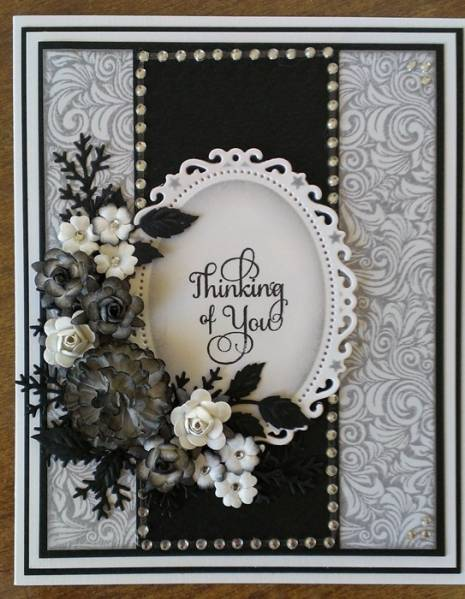 Black And White Challenge Card By Dragonfly Cards At