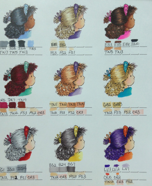 Spectrum Noir Hair Color Chart 1 By Jennie Black  Cards And Paper Crafts At