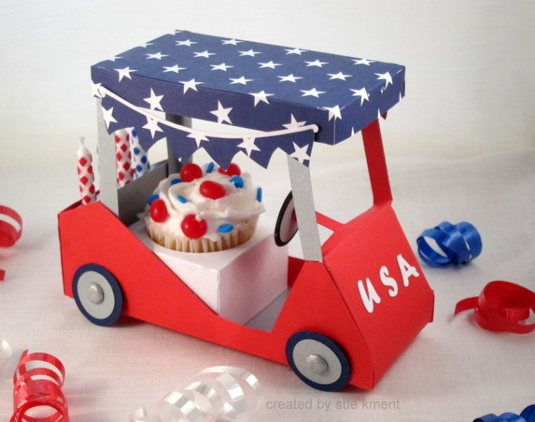 4th of july golf cart by susiespotless