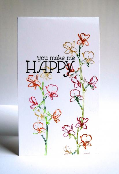You make me happy by luv flowers at splitcoaststampers Flowers that make you happy
