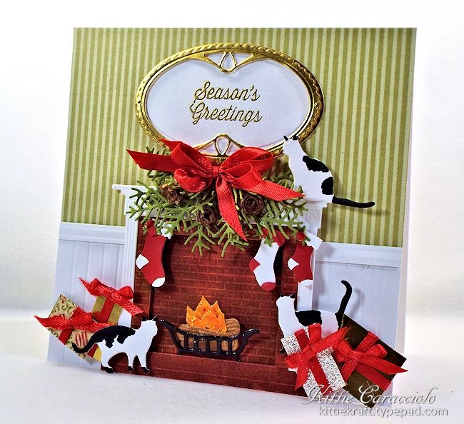 Christmas Fireplace Scene By Kittie747 Cards And Paper