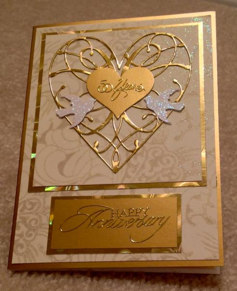 Wedding Cards Ideas To Make: Golden Anniversary Card By Cards4joy