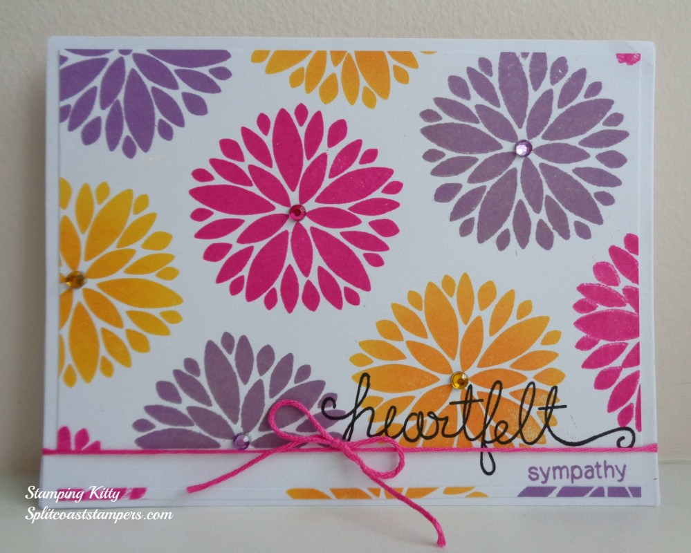 Heartfelt sympathy by Stamping Kitty features Fanciful Florals by Newton's Nook Designs, #newtonsnook