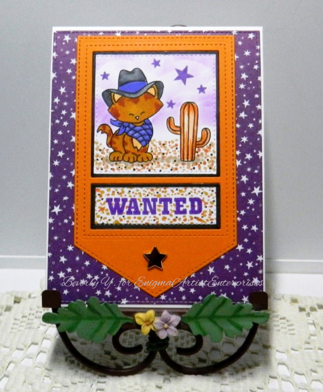 Wanted by Beverly Y. features Newton Rides West by Newton's Nook Designs; #Newtonsnook