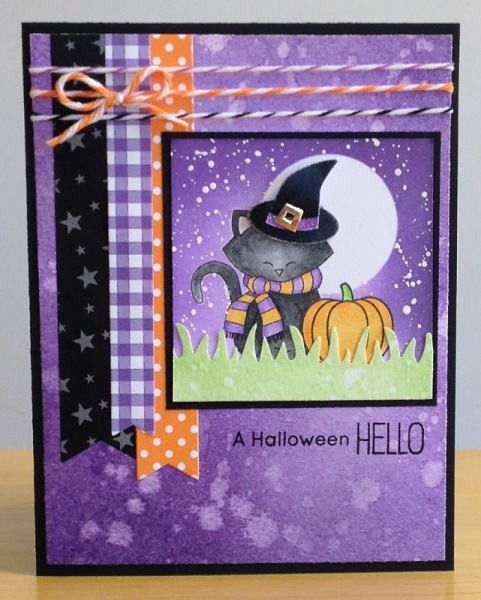 A Halloween Hello by Jennifer M. features Newton's Holiday Mischief by Newton's Nook Designs; #newtonsnook
