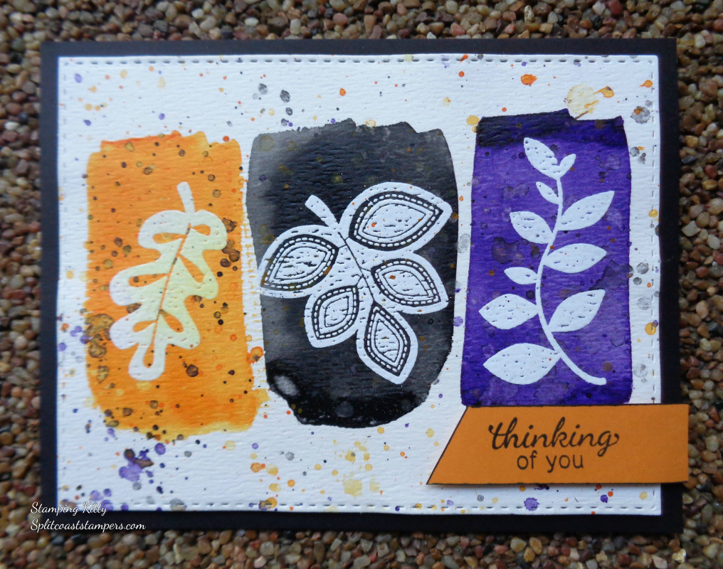 Thinking of You by Stamping Kitty features Falling into Autumn by Newton's Nook Designs; #newtonsnook