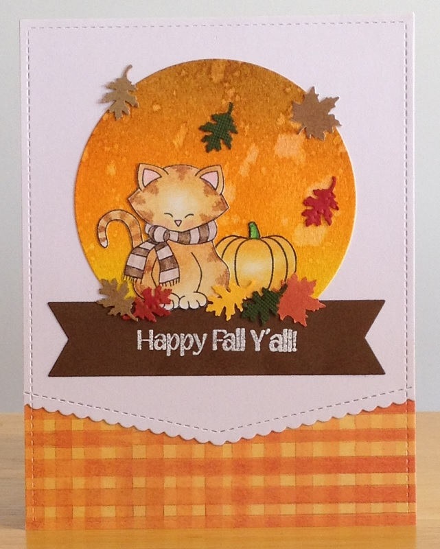 Happy Fall by Jennifer features Newton's Holiday Mischief by Newton's Nook Designs; #newtonsnook
