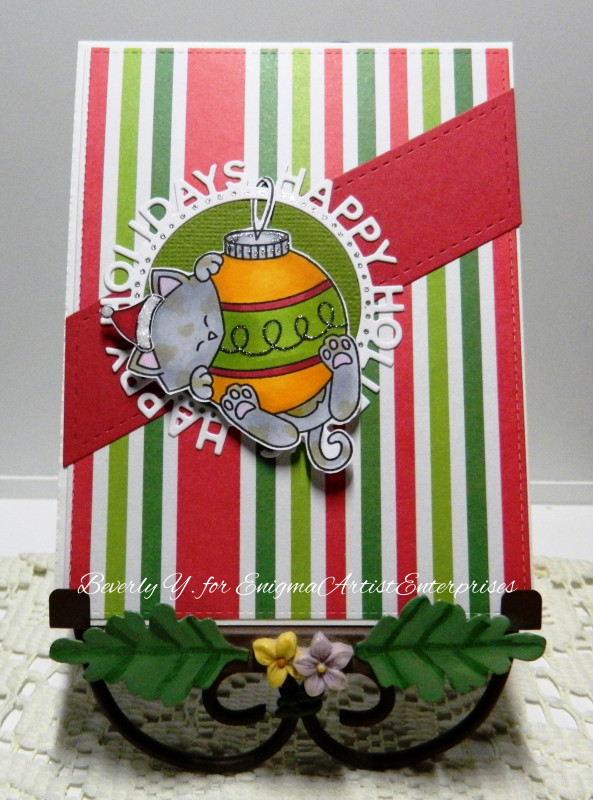 Happy Holidays by Beverly Y. features Ornamental Newton by Newton's Nook Designs; #newtonsnook