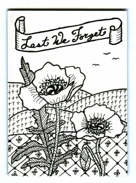 Remembrance Day Zentangle By Plain Jane At