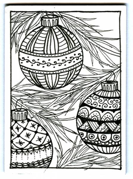 ... Ideas on Pinterest | Zentangle, Christmas Cards and Christmas Ornament