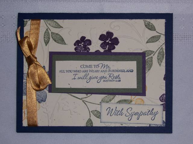 bible verse sympathy card by berlycece at splitcoaststampers - Bible Verses For Sympathy Cards