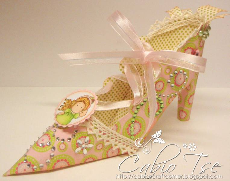 high heel shoe template craft - altered 3d magnolia tilda on the loose high heel not a