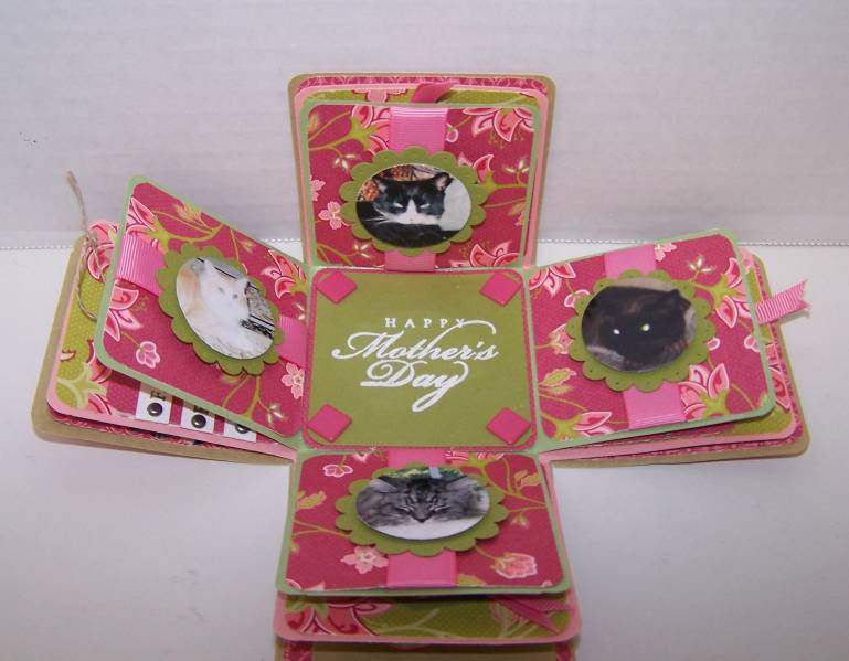 Mothers Day Explosion Box Inside By Lisa G At
