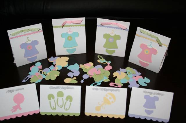 cricut baby shower samples by cloetzu cards and paper crafts at