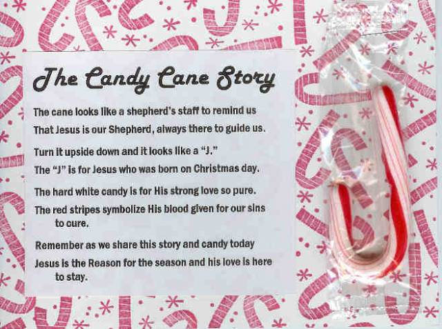 image about The Story of the Candy Cane Printable called Splitcoaststampers Sweet Cane Tale