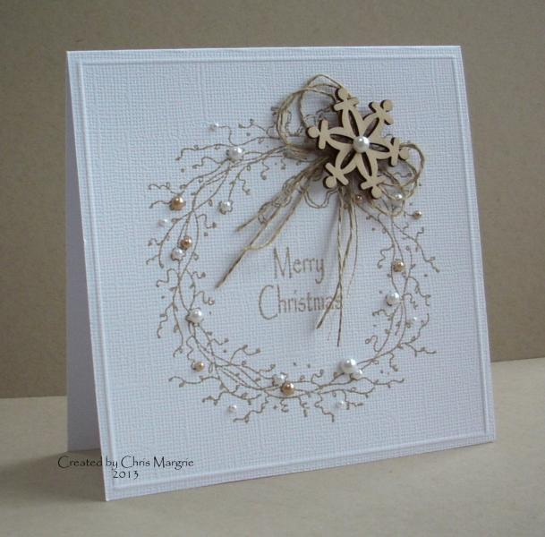 Ccc13 nov rustic wreath by ceedee at splitcoaststampers for Christmas cards made