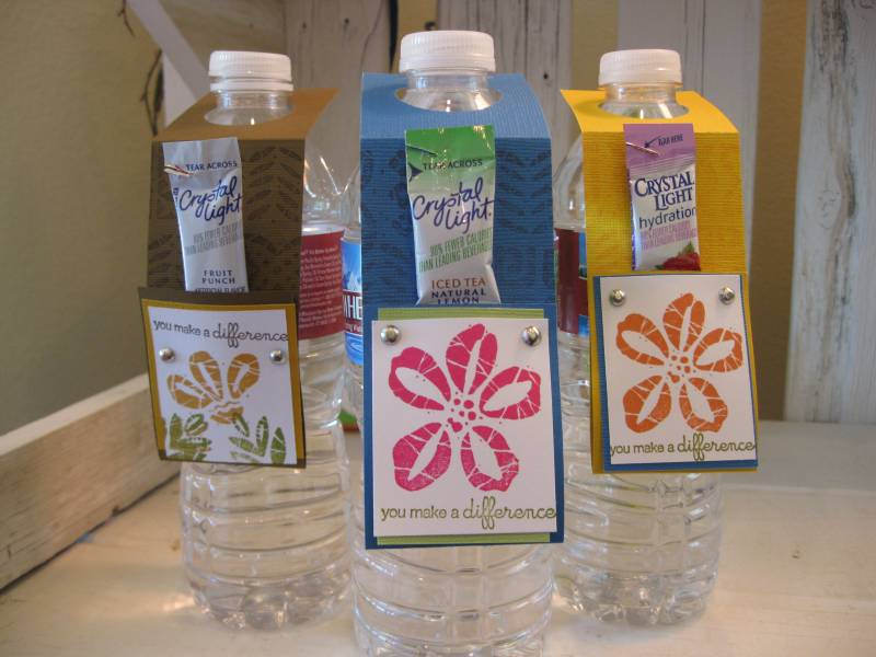 Teacher appreciation treats by doublesmom at for Diy mineral water bottle