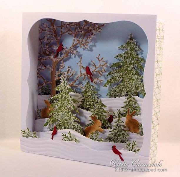 Candy Box Winter Diorama Scene By Kittie747 At